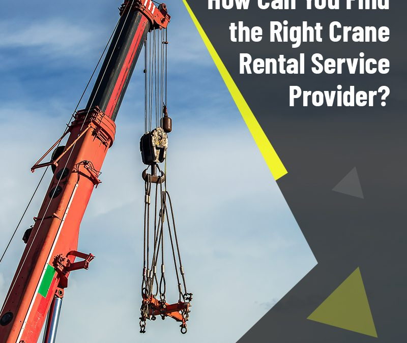 How Can You Find The Right Crane Rental Service Provider?